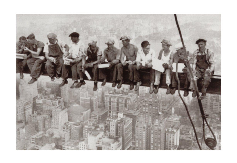 "Home affaire Wandbild ""Eating above Manhattan"", 90/60 cm"