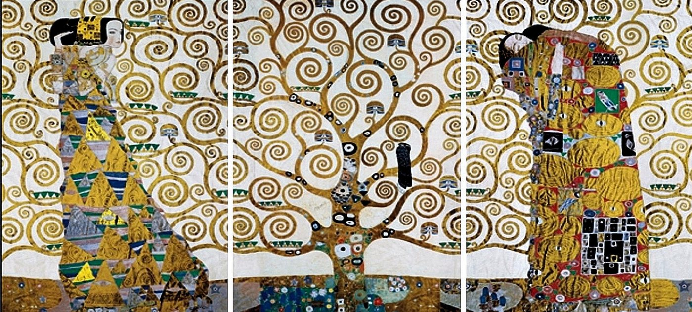 "Home affaire Wandbild ""KLIMT - Der Lebensbaum"", (Set), 3-tlg. Set"