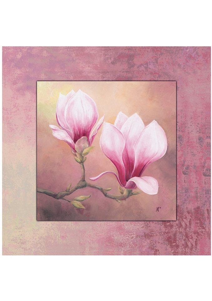 """Home affaire Wandbild """"Late Magnolia"""", Late Magnolia, 50,4/50,4 cm, gerahmt"""