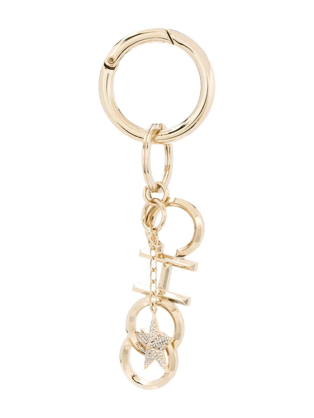 Jimmy Choo Schlüsselanhänger mit kristallverziertem Stern - Gold
