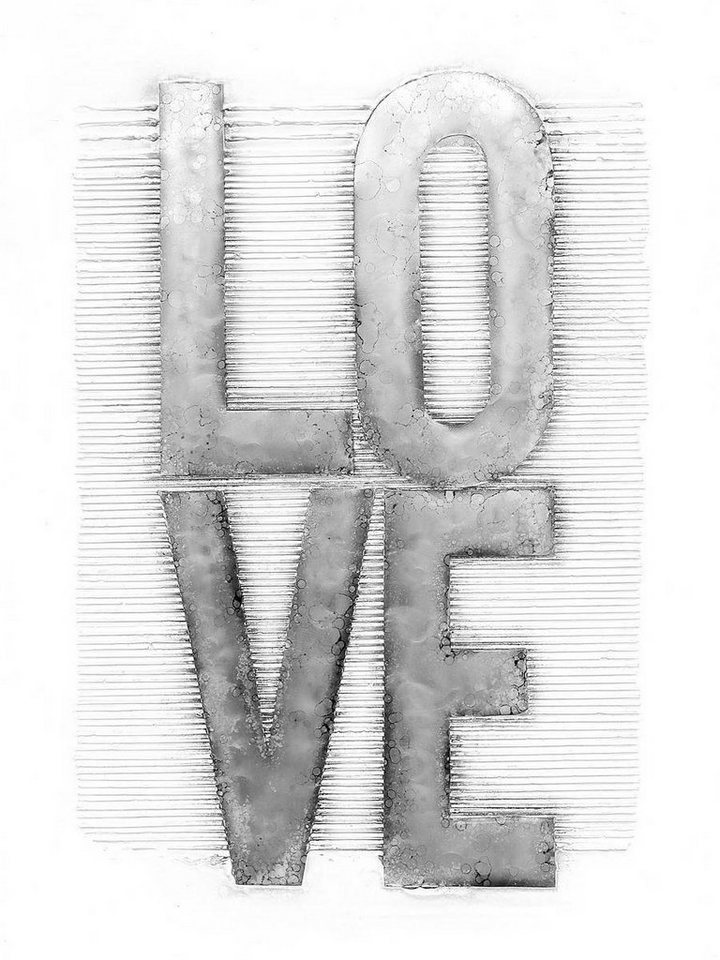 Kayoom Aluminium Wandbild Liebe, 80cm x 100cm