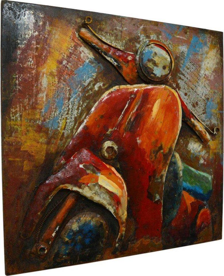 "Kayoom Wandbild ""Metall Scooter Trip"", 60cm x 60cm"