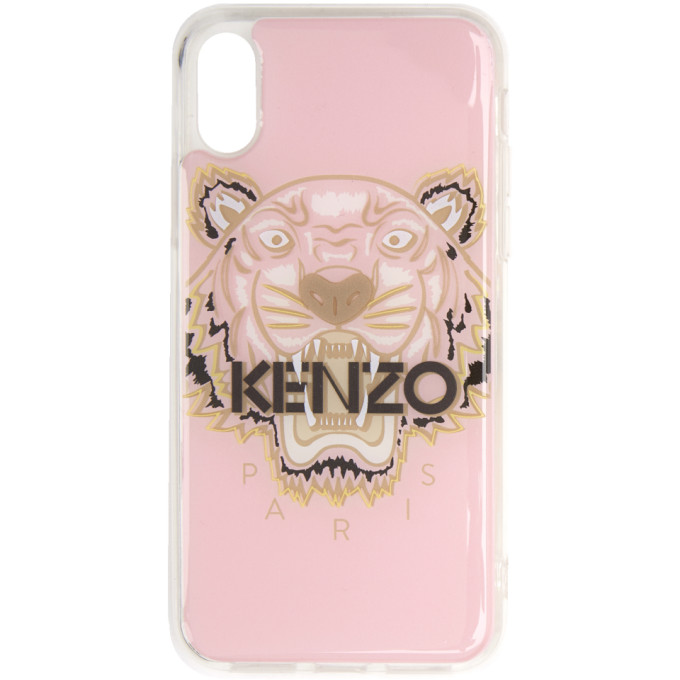 Kenzo Pink and Brown Tiger iPhone X Case
