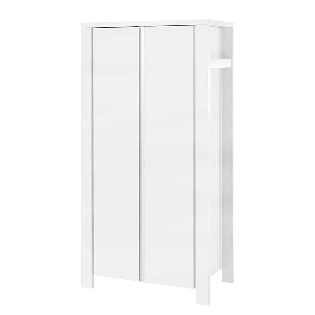 Kleiderschrank Milano - Weiß - 110 cm (2-türig), Schardt