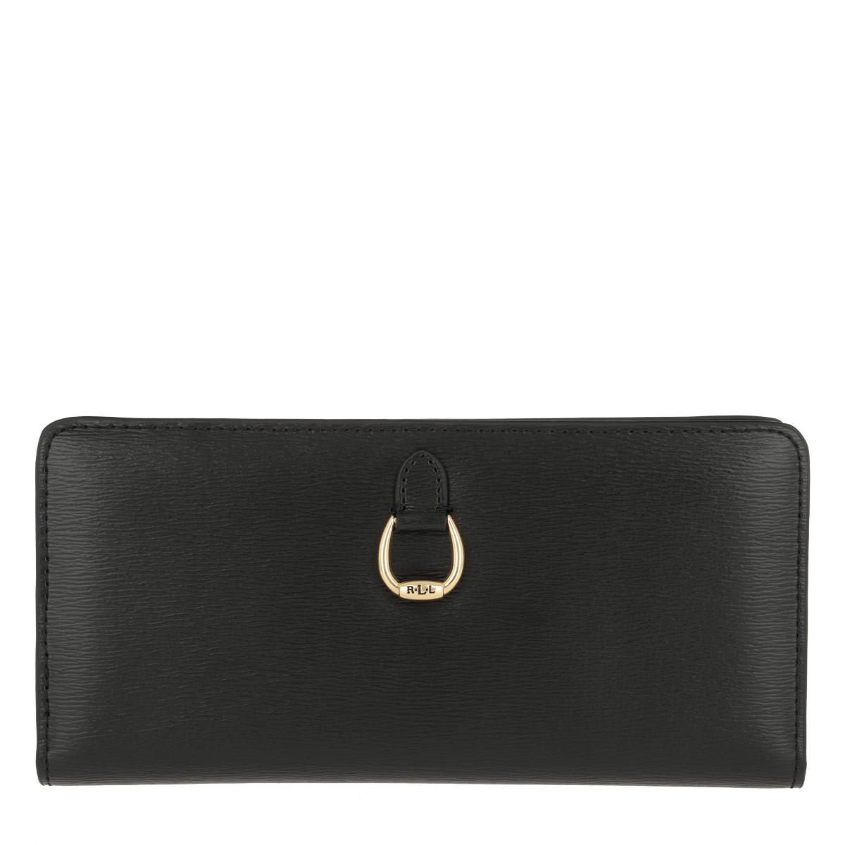 Lauren Ralph Lauren Portemonnaie - Bennington Snap Continental Wallet Large Black - in schwarz - für Damen