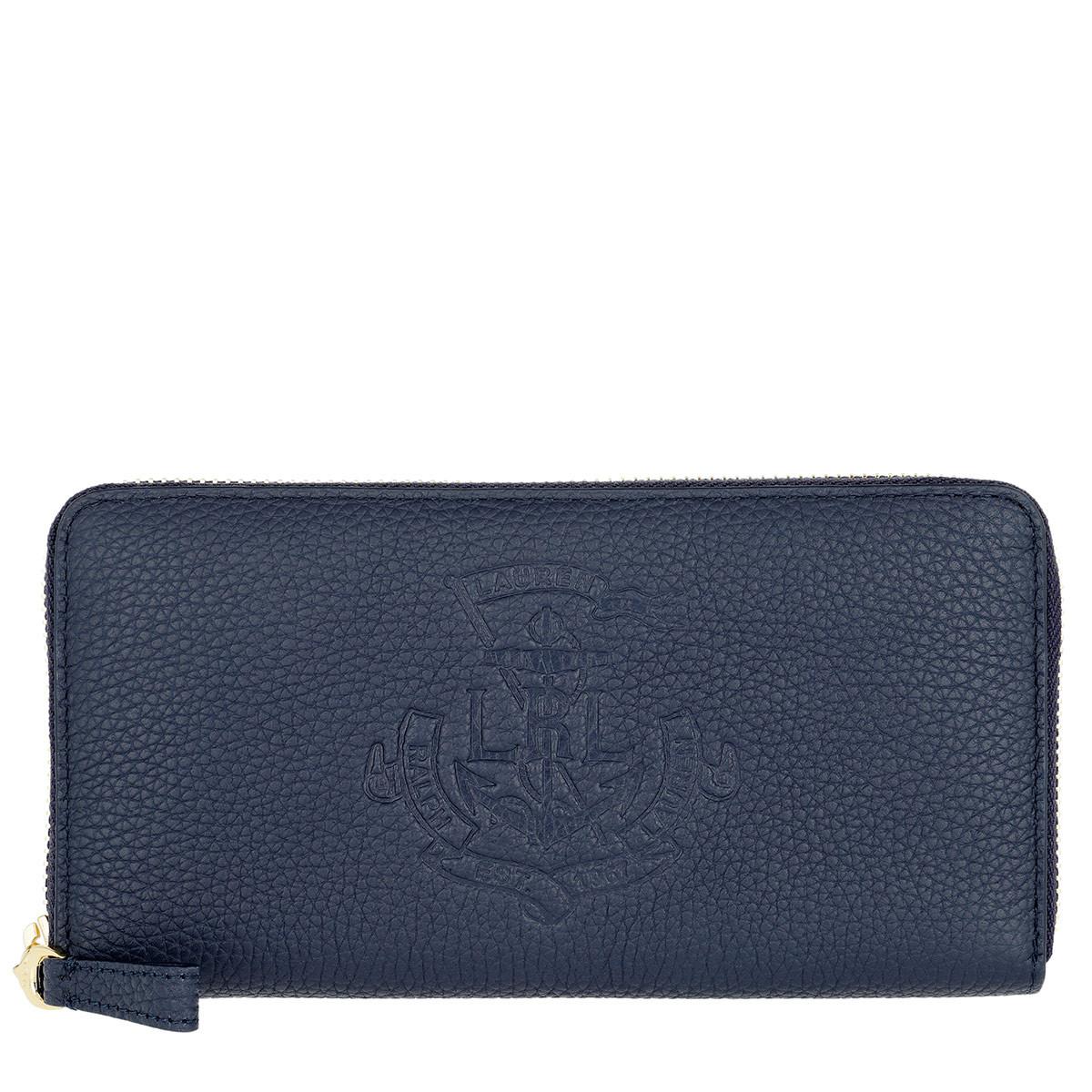 Lauren Ralph Lauren Portemonnaie - Huntley Zip Wallet Medium Navy - in blau - für Damen