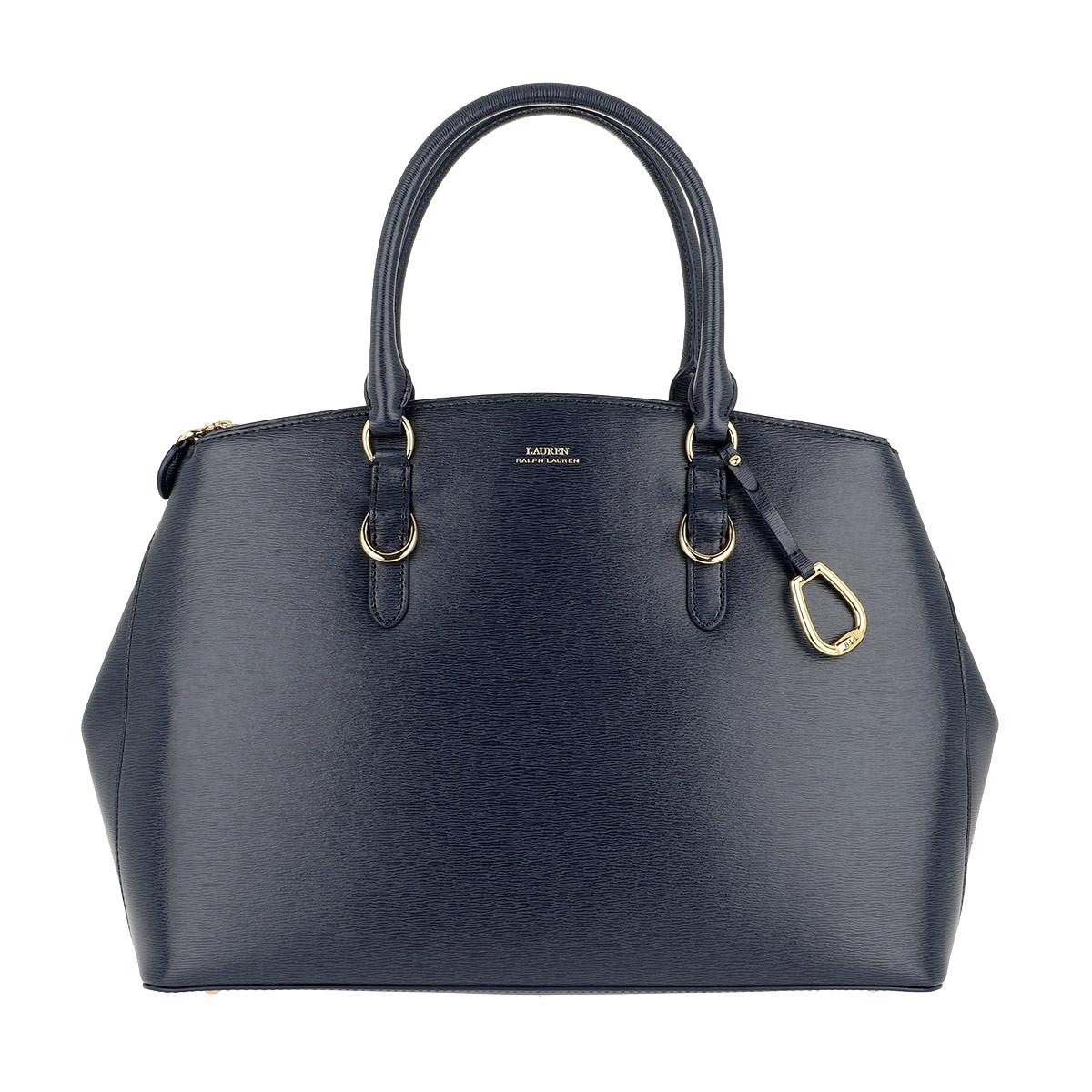Lauren Ralph Lauren Satchel Bag - Bennington Double Zip Satchel Large Navy - in blau - für Damen