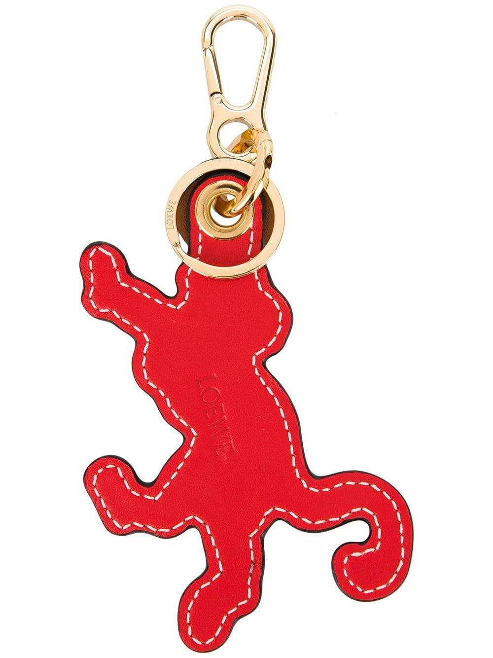 Loewe Schlüsselanhänger mit Logo-Prägung - Rot