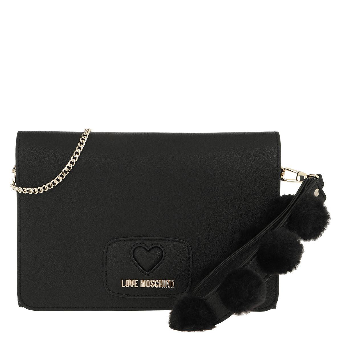Love Moschino Clutch - Pom Pom Clutch Black - in schwarz - für Damen