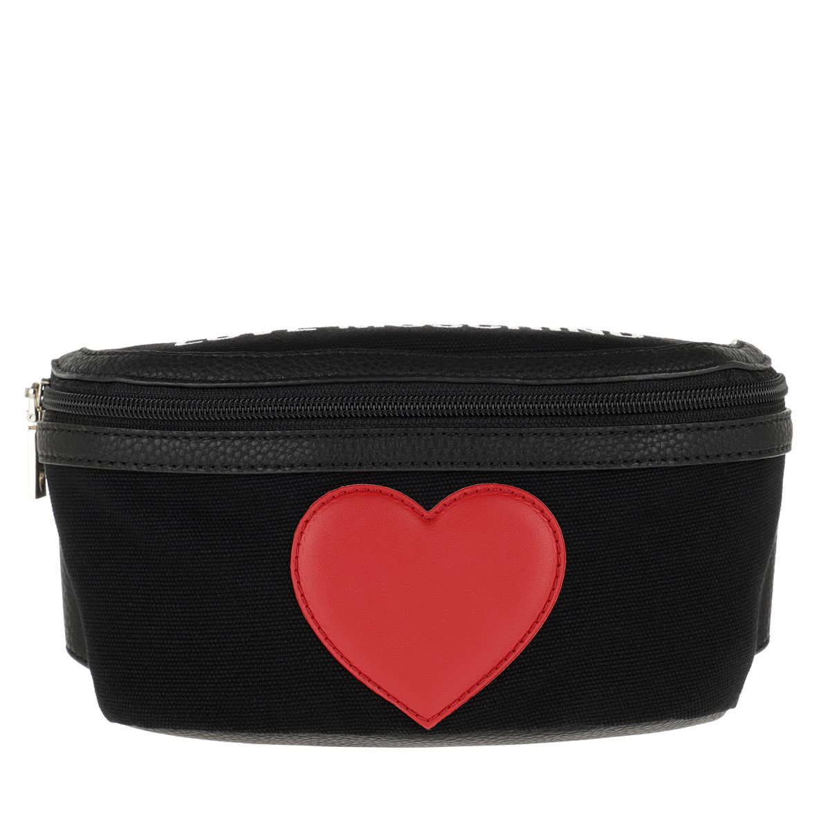 Love Moschino Gürteltasche - Canvas+Pebble Pu Belt Bag Nero - in schwarz - für Damen