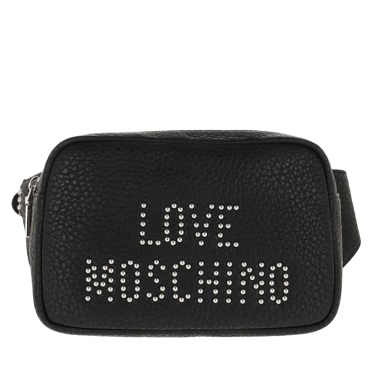 Love Moschino Gürteltasche - Grain Belt Bag Nero/Nickel - in schwarz - für Damen
