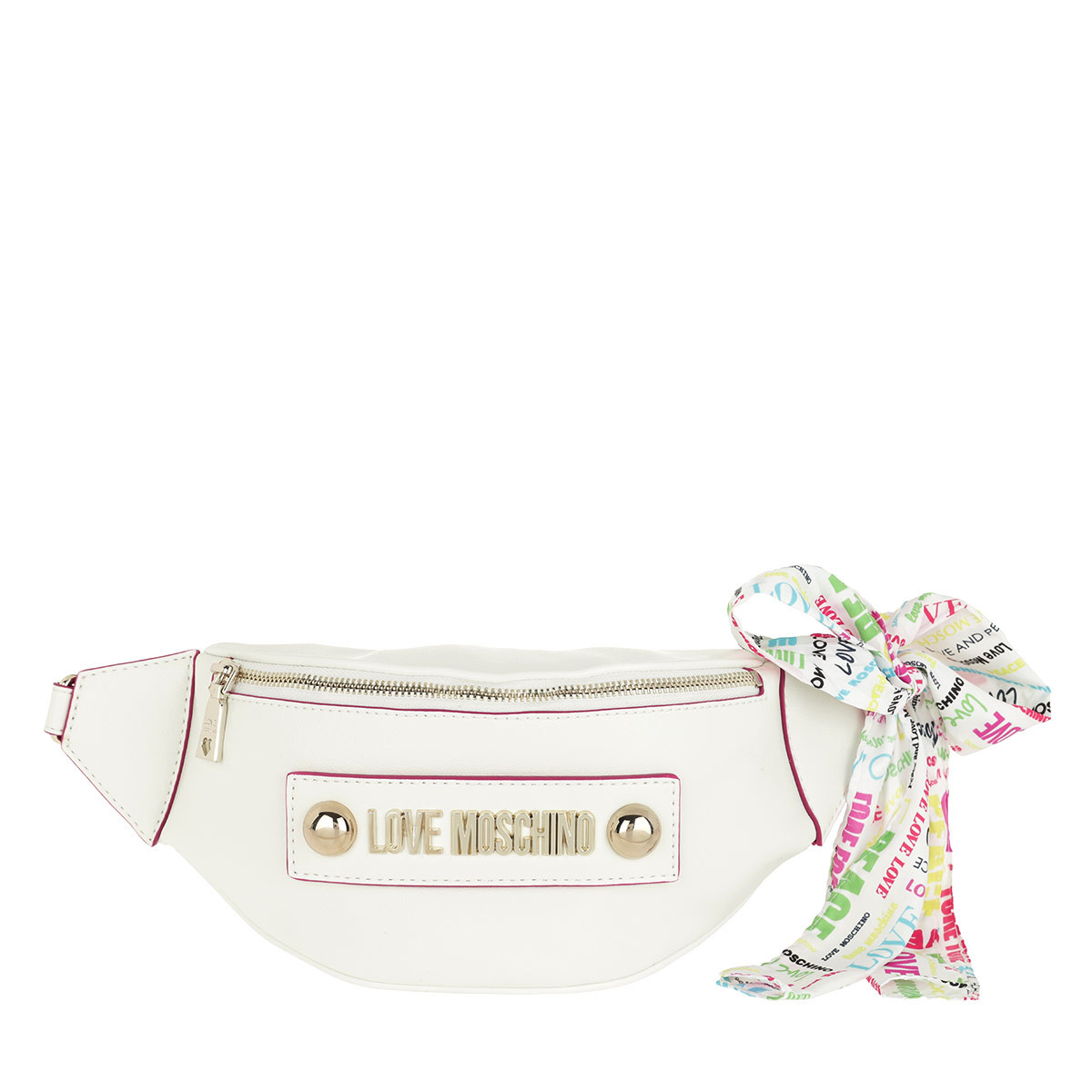 Love Moschino Gürteltasche - Soft Grain Pu Crossbody Bag Bianco - in weiß - für Damen