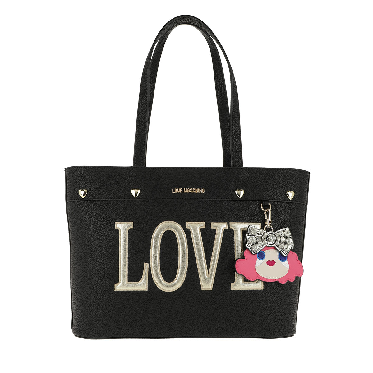 Love Moschino Shopper - Pebble Pu Love Shopper Nero - in schwarz - für Damen