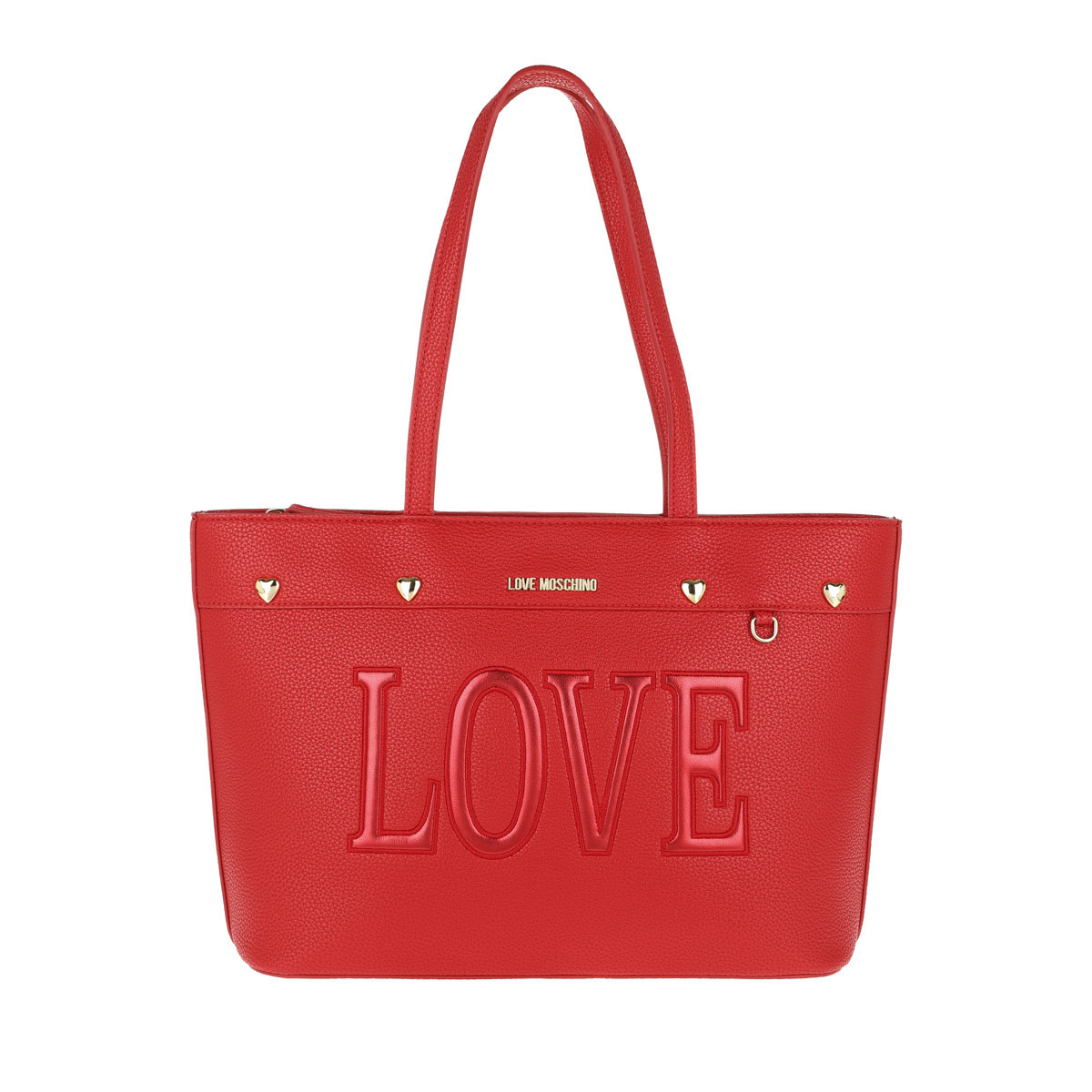Love Moschino Shopper - Pebble Pu Love Shopper Rosso - in rot - für Damen
