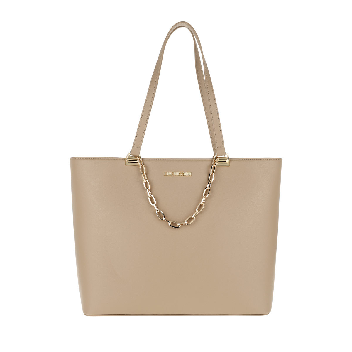 Love Moschino Shopper - Smooth Pu Shopper Naturale - in beige - für Damen