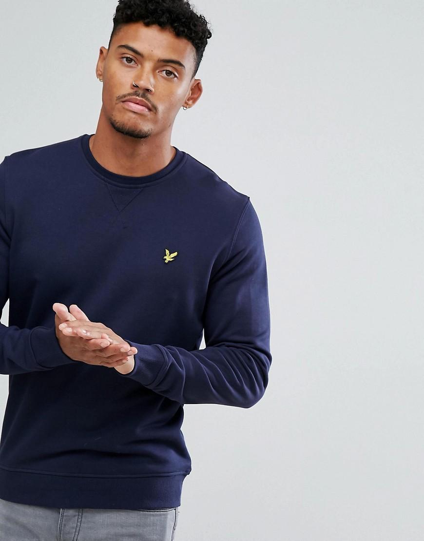 Lyle & Scott - Marineblaues Sweatshirt mit Logo - Navy