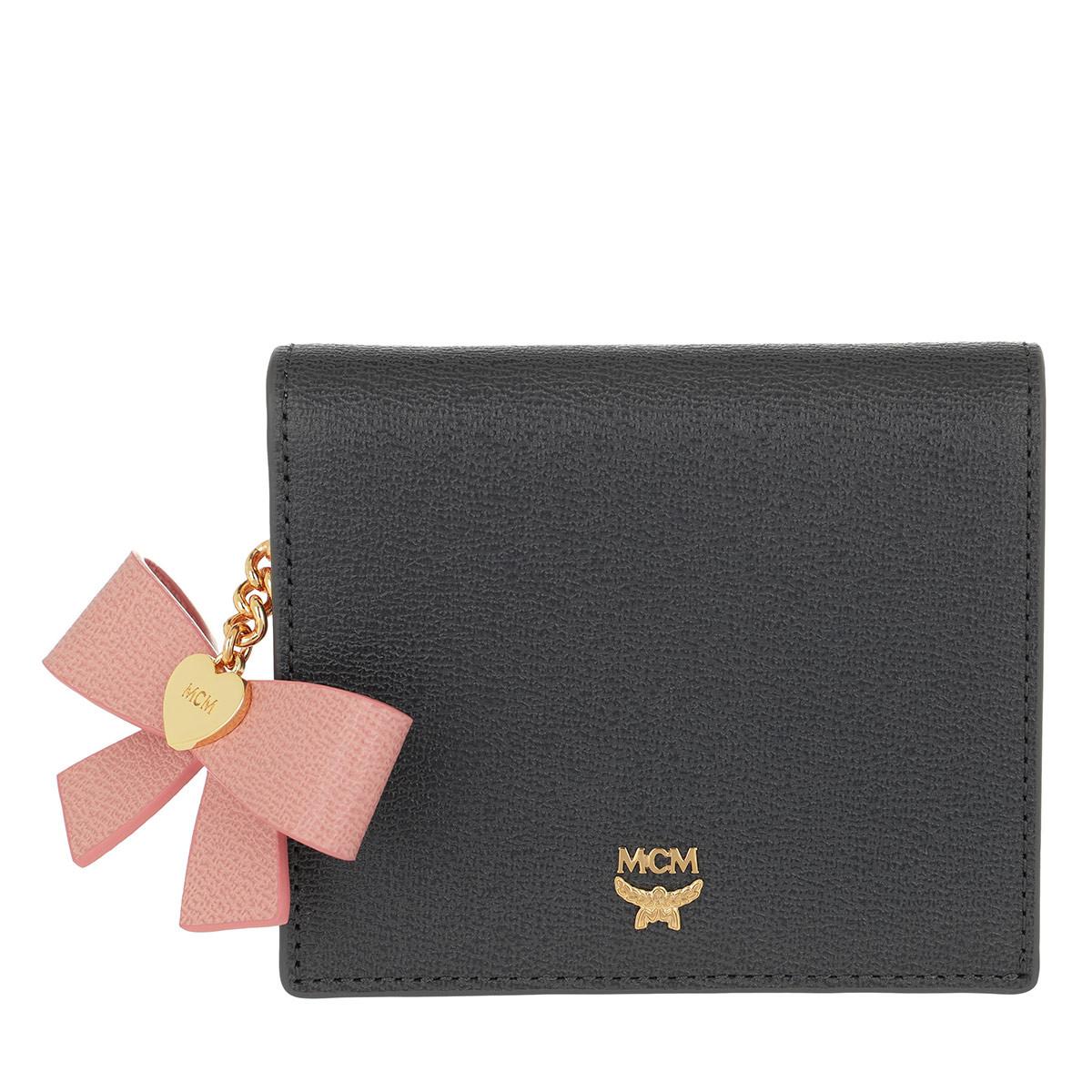 MCM Portemonnaie - Mina Bow Charm Flap Wallet Mini Phantom Grey - in grau - für Damen