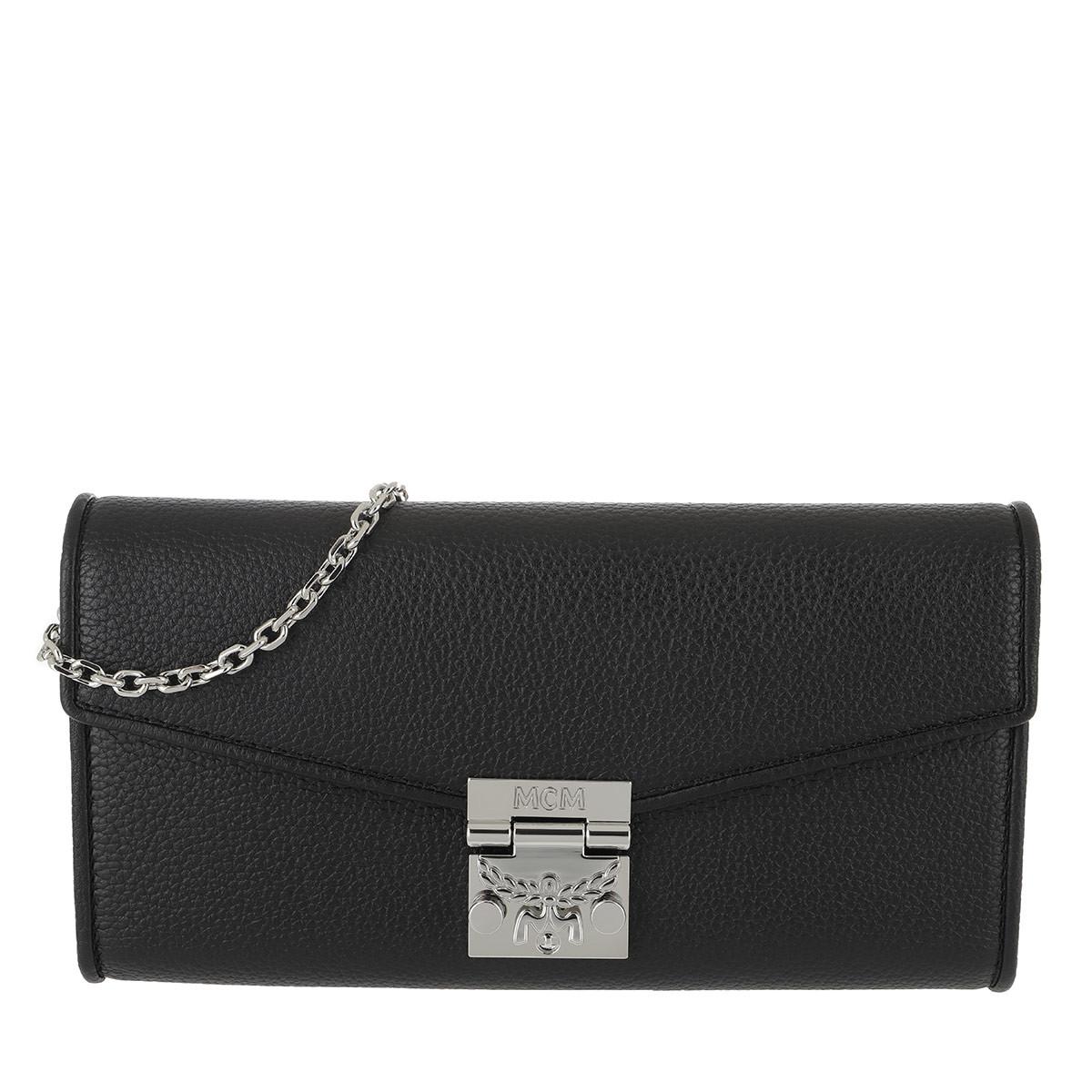MCM Portemonnaie - Patricia Park Avenue Flap Wallet Large Black - in schwarz - für Damen