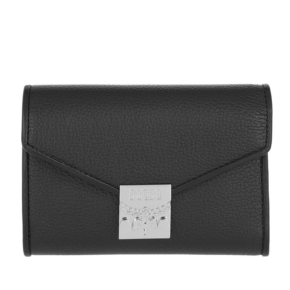 MCM Portemonnaie - Patricia Park Avenue Flap Wallet Tri-Fold Small Black - in schwarz - für Damen