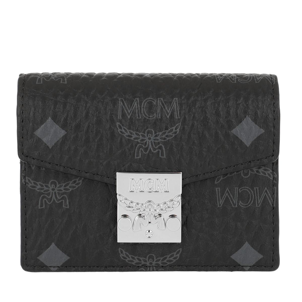 MCM Portemonnaie - Patricia Visetos Acordian Card Wallet Mini Black - in schwarz - für Damen