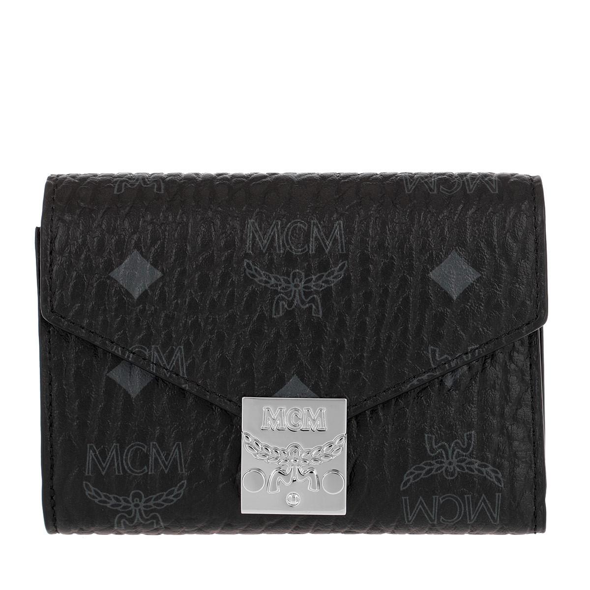 MCM Portemonnaie - Patricia Visetos Flap Wallet Small Black - in schwarz - für Damen
