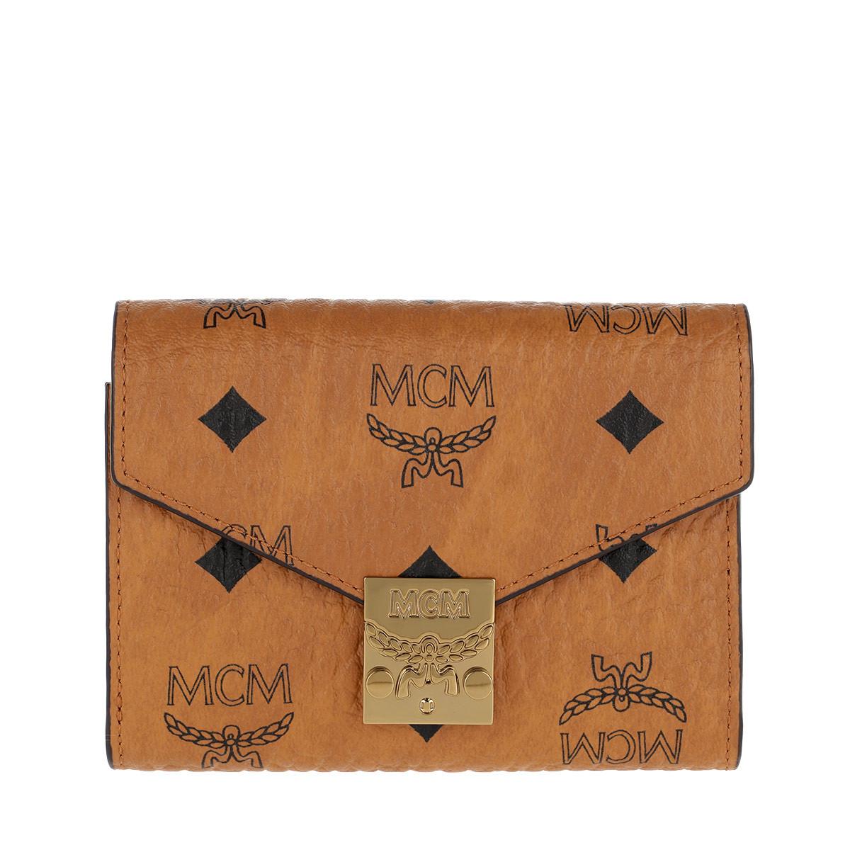MCM Portemonnaie - Patricia Visetos Flap Wallet Small Cognac - in cognac - für Damen