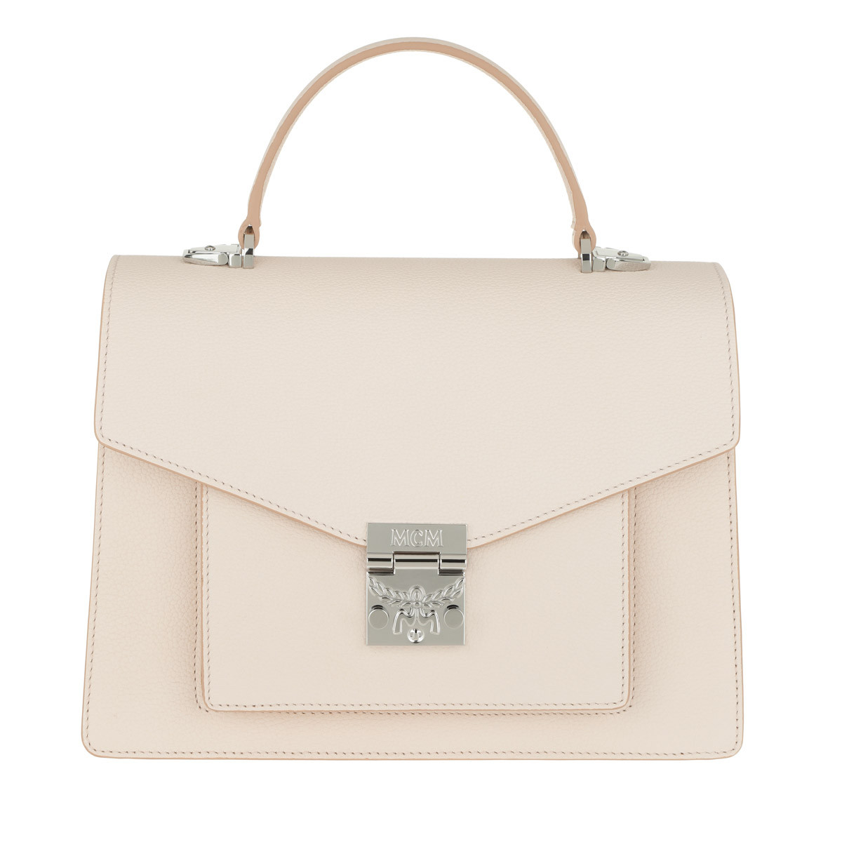 MCM Satchel Bag - Patricia Park Avenue Satchel Medium Shell - in beige - für Damen