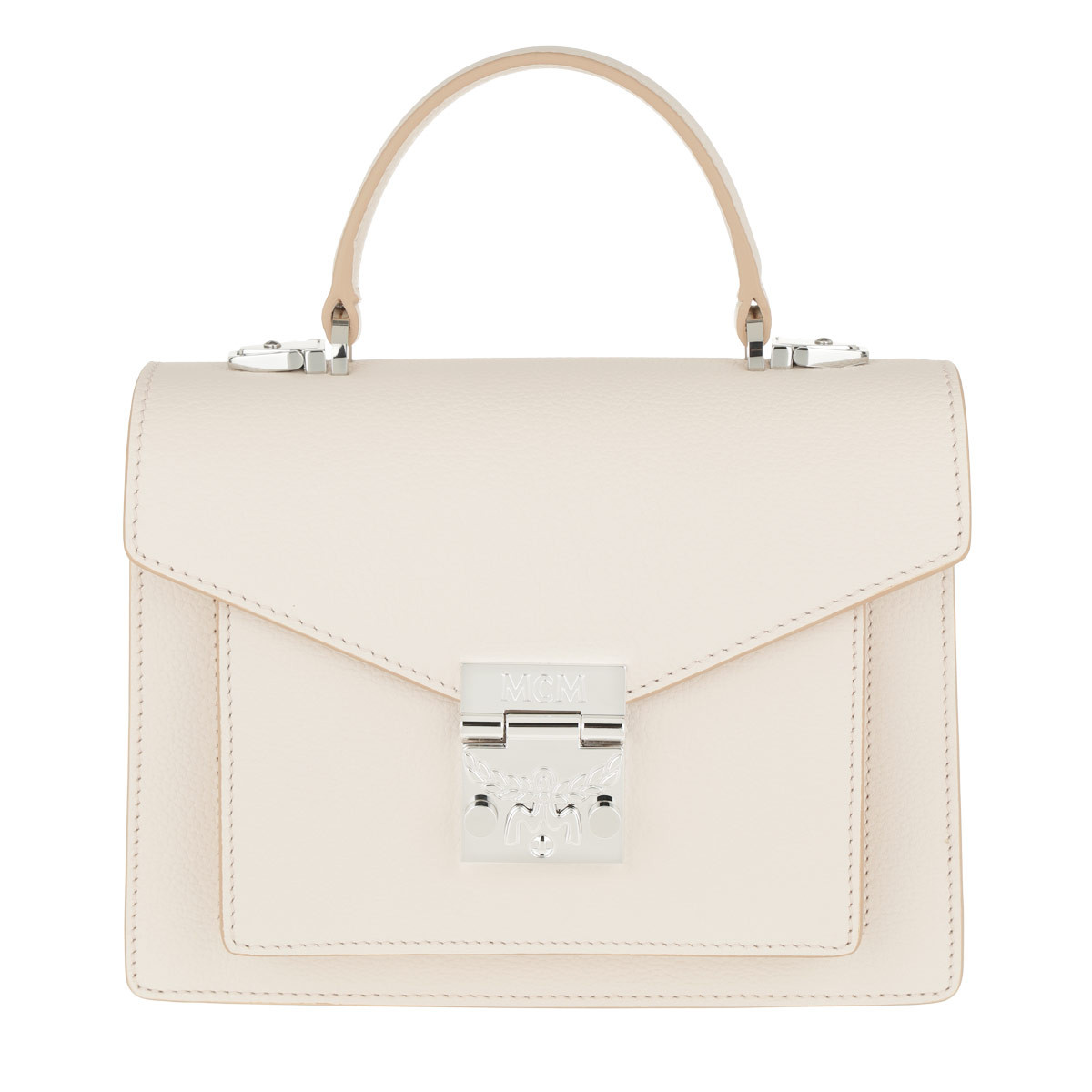 MCM Satchel Bag - Patricia Park Avenue Satchel Small Shell - in beige - für Damen