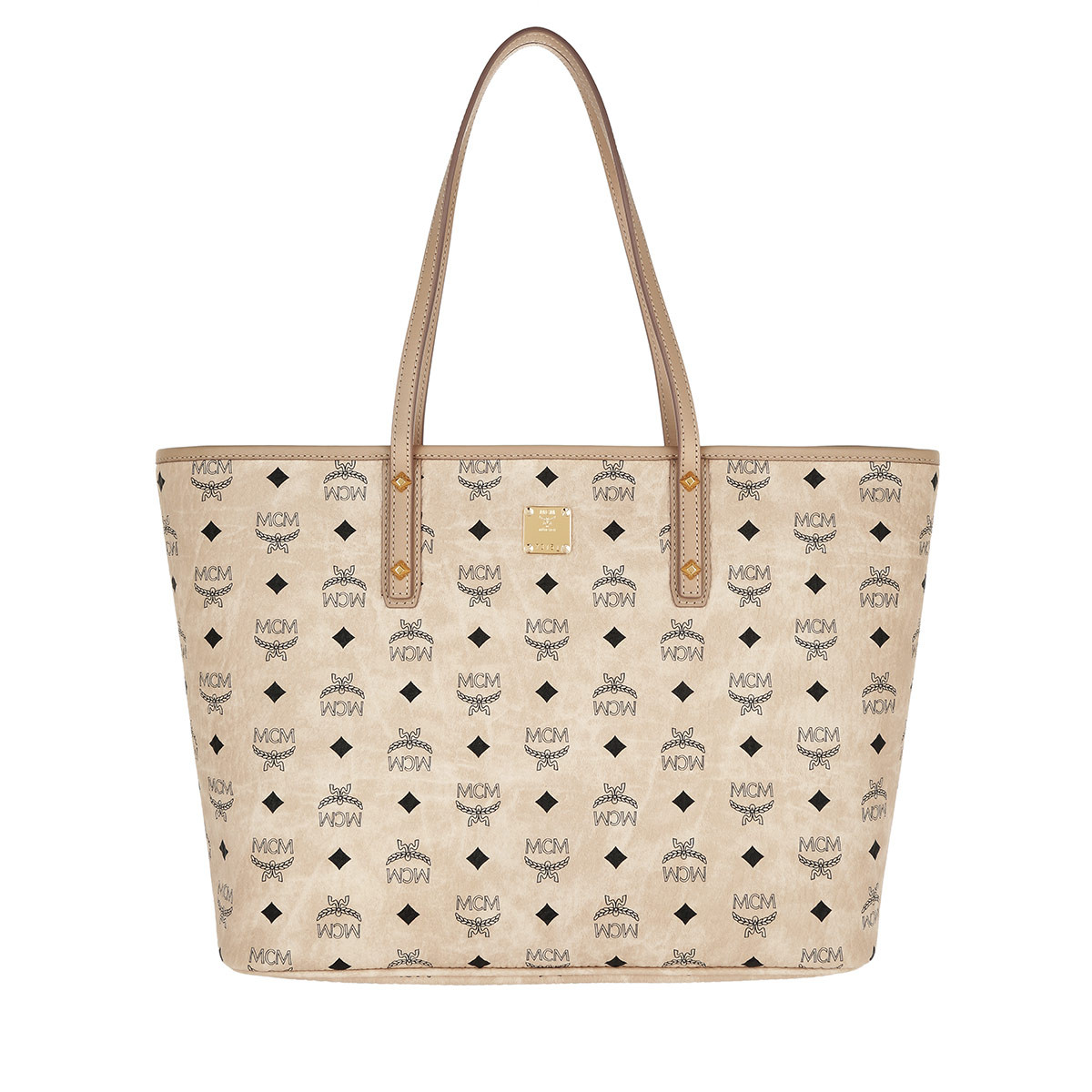 MCM Shopper - Anya Top Zip Shopper Medium Beige - in beige - für Damen