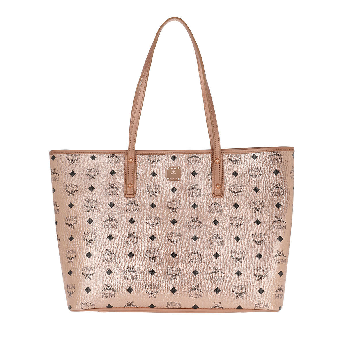 MCM Shopper - Anya Top Zip Shopper Medium Champagne Gold - in rosa - für Damen