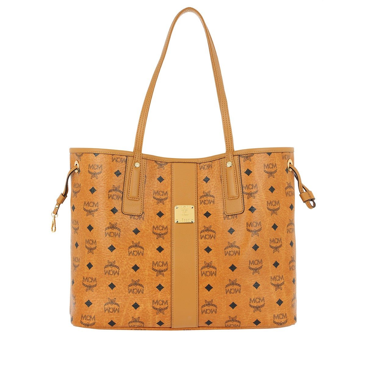 MCM Shopper - Project Visetos Reversible Shopper Medium Cognac - in cognac - für Damen
