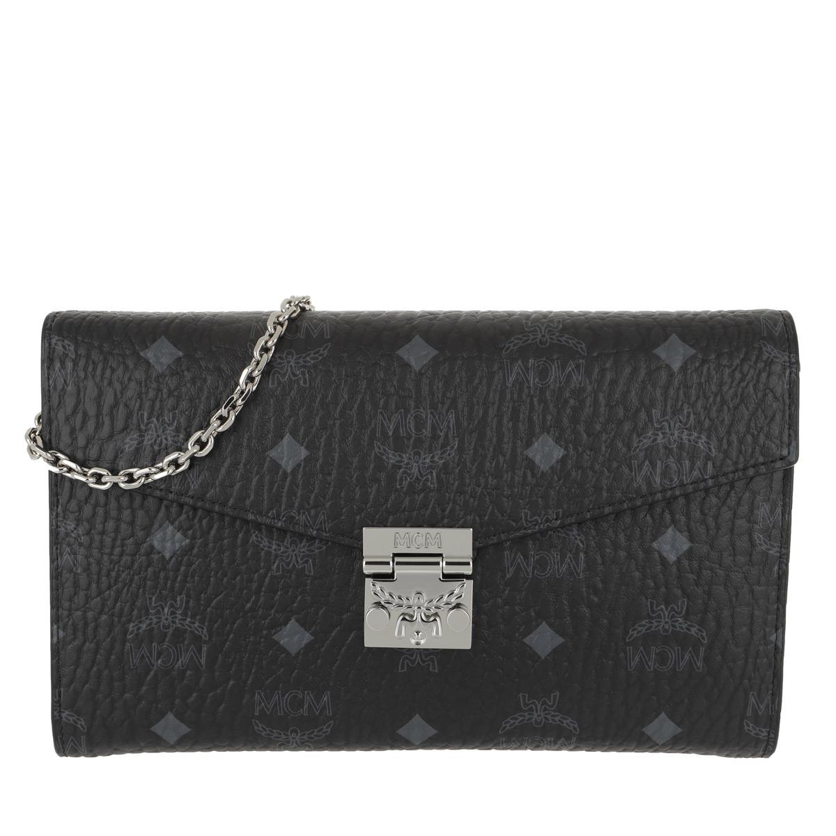 MCM Umhängetasche - Patricia Visetos Continental Crossbody Wallet Large Black - in schwarz - für Damen