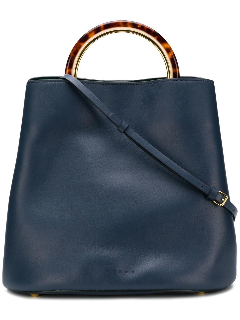 Marni Mittelgroße 'Panier' Handtasche - Blau