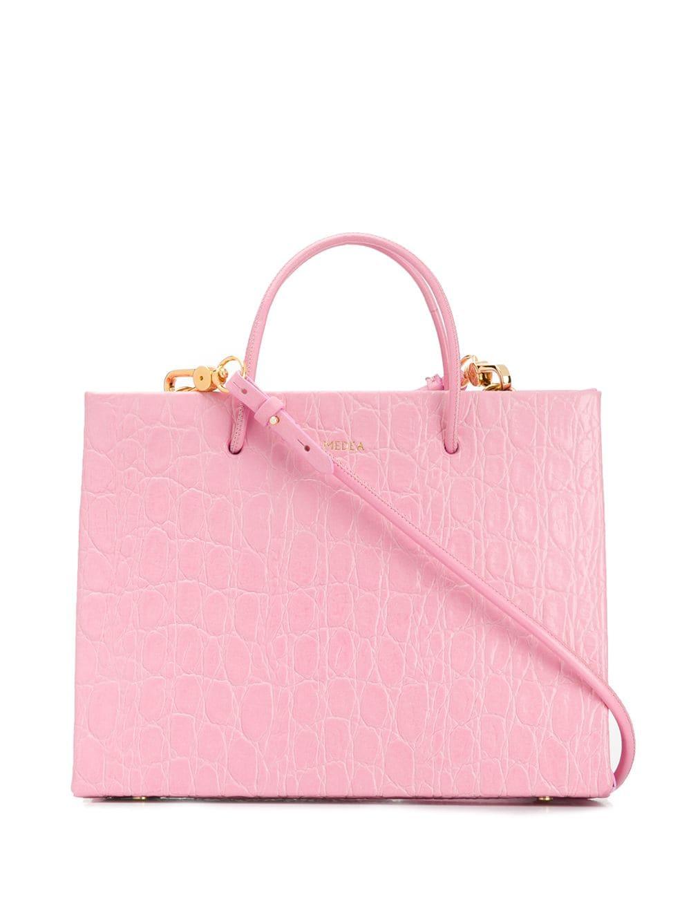 Medea Kleine Handtasche mit Prägung - Rosa
