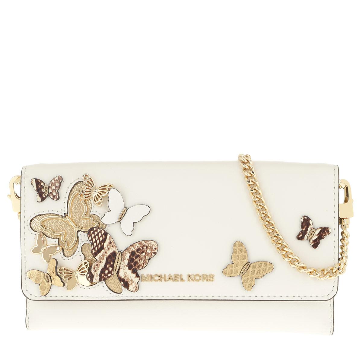 Michael Kors Umhängetasche - Large Mf Wallet On A Chain Optic White - in weiß - für Damen