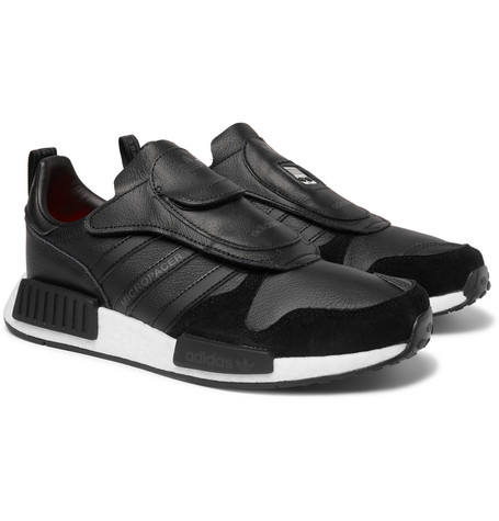 Micropacer X R1 Leather And Suede Sneakers - Black