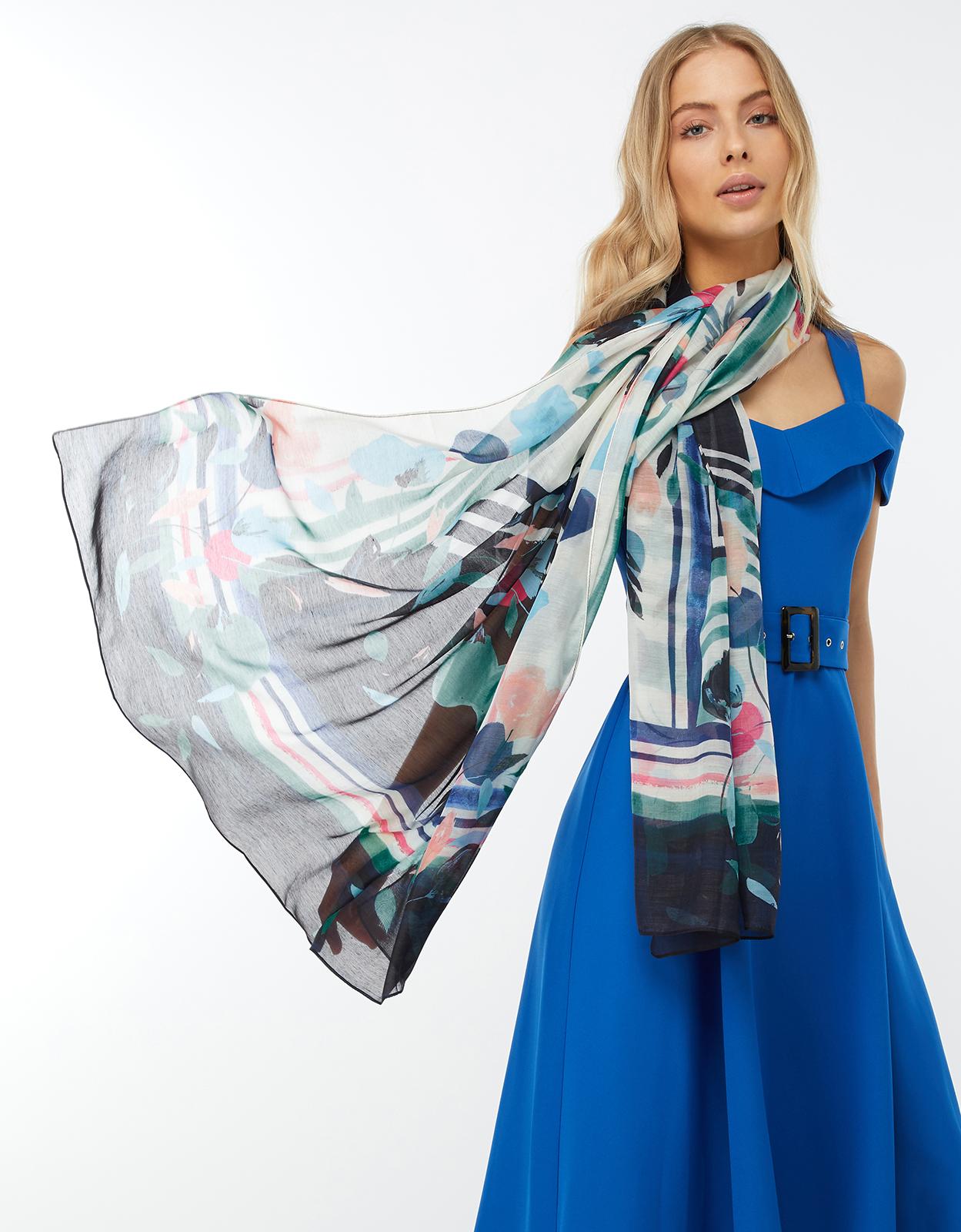 Monsoon Suki eleganter Schal multi Einheitsgröße
