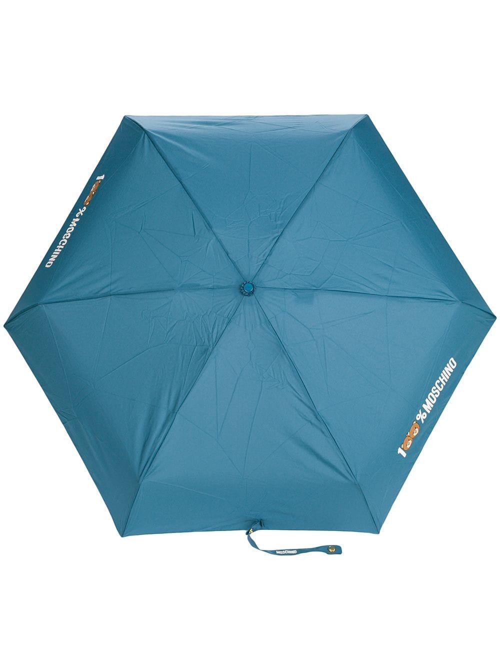Moschino '100% Moschino' Regenschirm - Blau