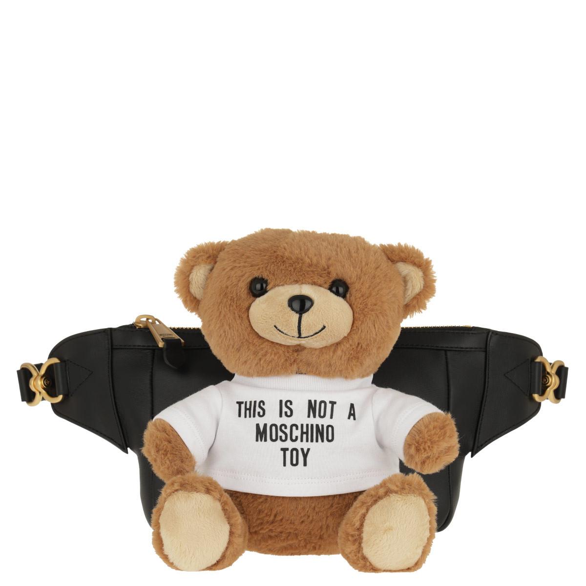 Moschino Gürteltasche - Teddy Charm - in schwarz - für Damen