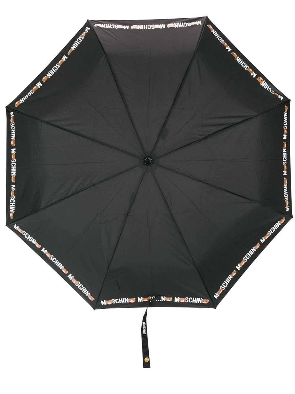 Moschino Regenschirm mit Teddybären-Print - Schwarz