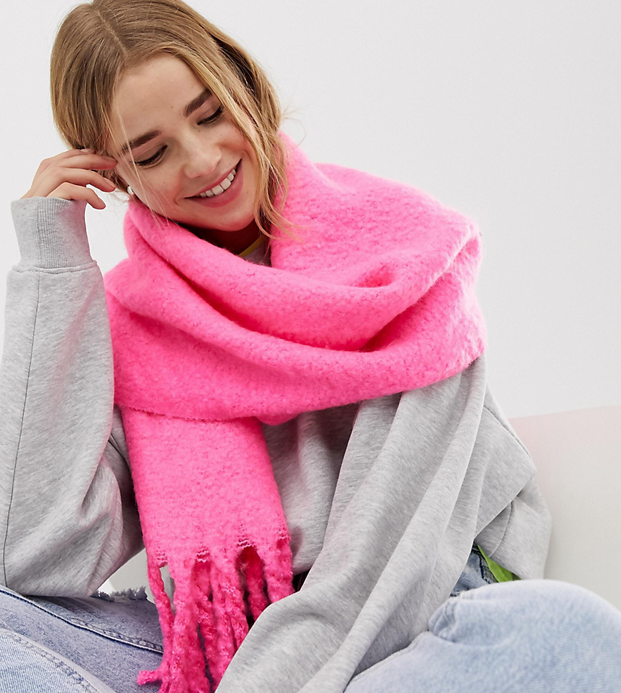 New Look - Klassischer Schal in Neon-Rosa - Rosa