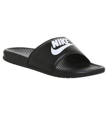 Nike Benassi Slide BLACK WHITE,Marine-Blau,Schwarz