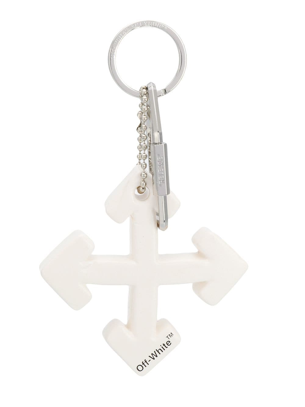 Off-White Schlüsselanhänger mit Logo - Weiß