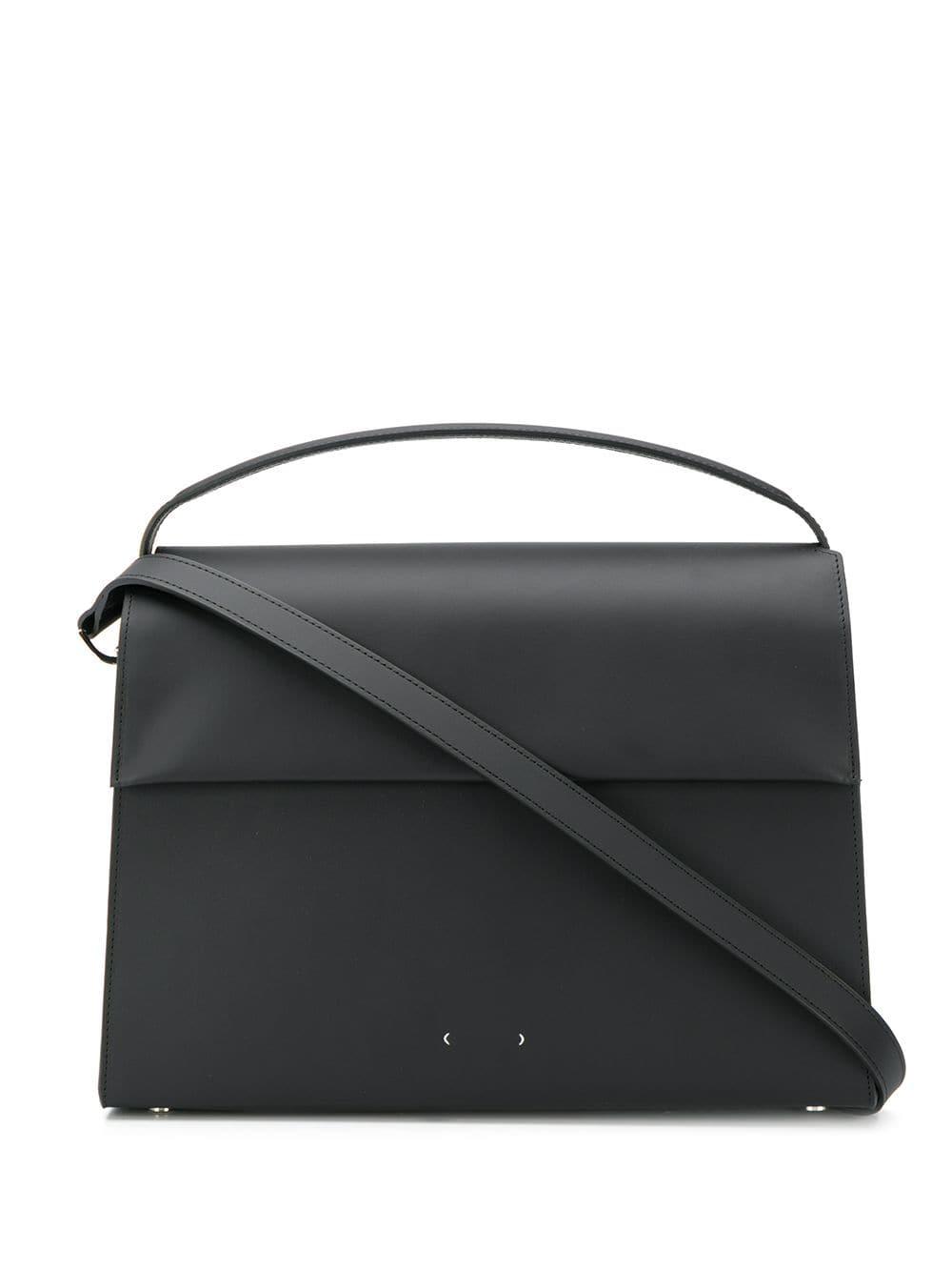 Pb 0110 Strukturierte Handtasche - Schwarz