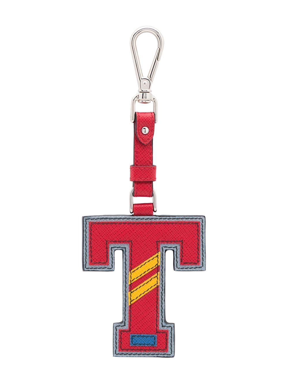 Prada Klassischer Schlüsselanhänger - Rot