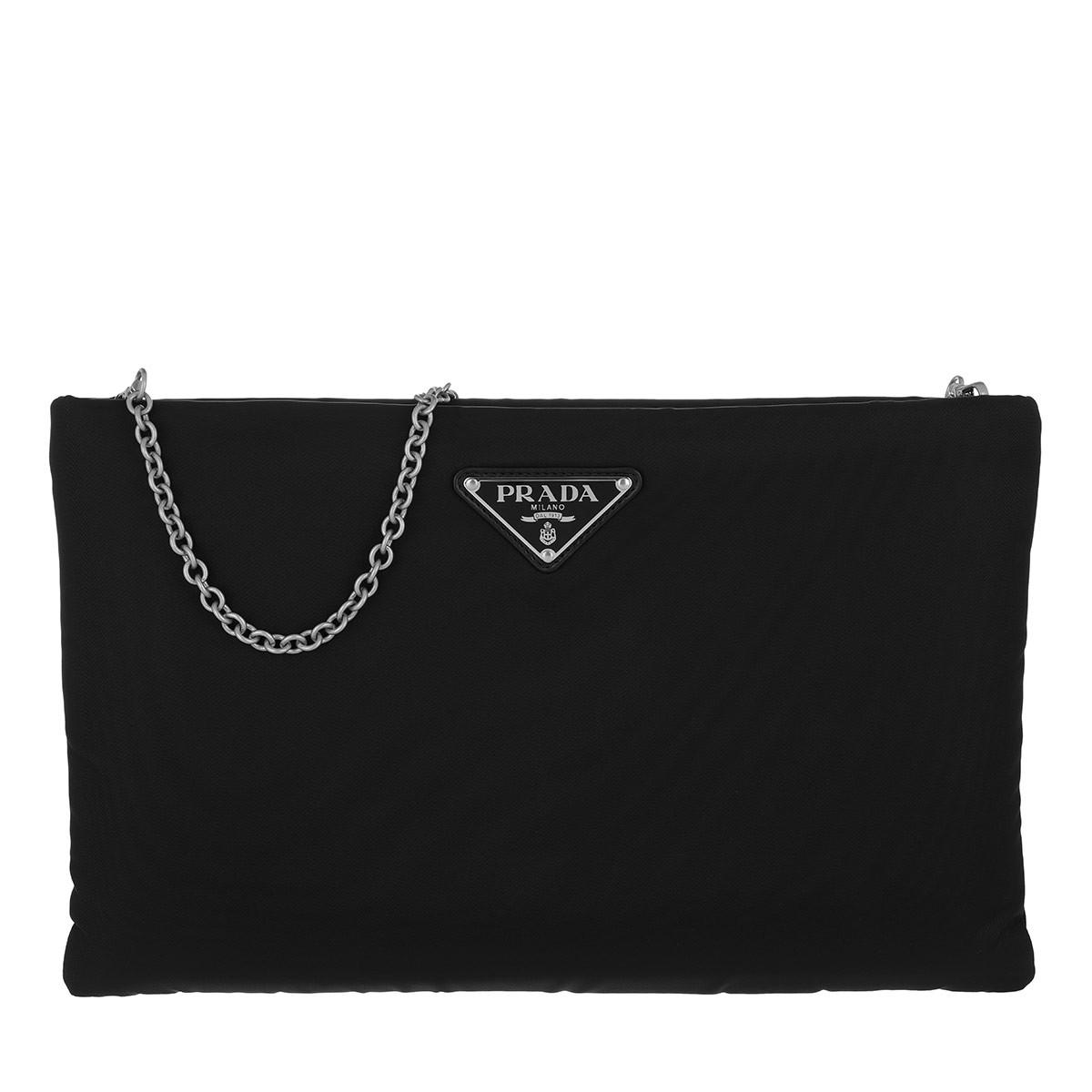 Prada Umhängetasche - Padded Nylon Clutch Medium Nero - in schwarz - für Damen