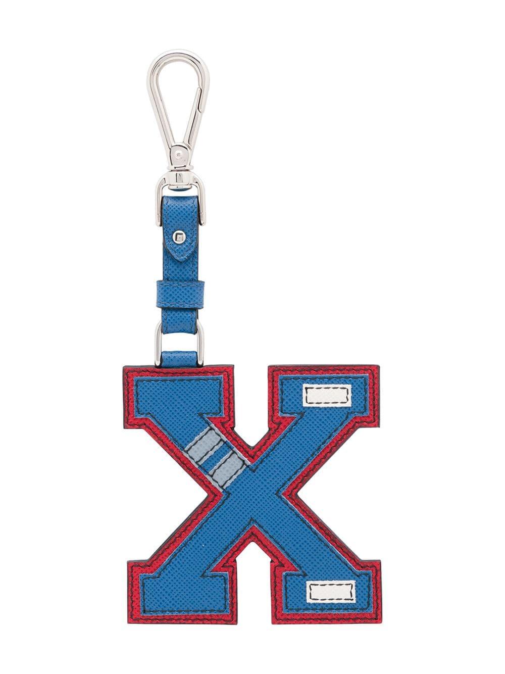 Prada 'X' Schlüsselanhänger - Blau