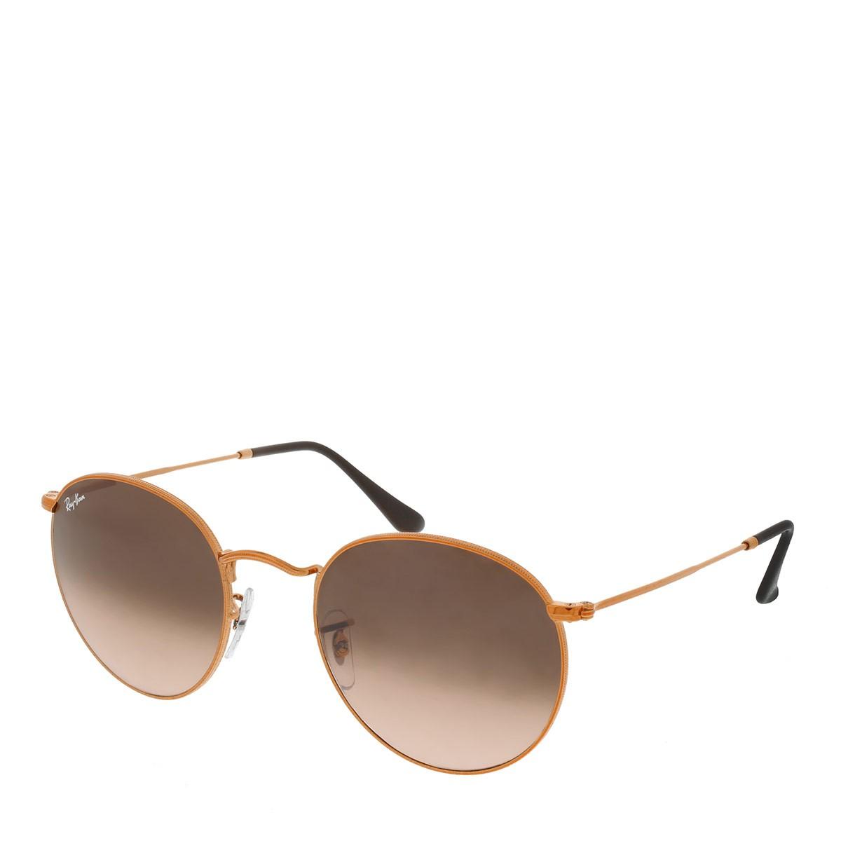 Ray-Ban Sonnenbrille - Round Metal RB 0RB3447 53 9001A5 - in braun - für Damen