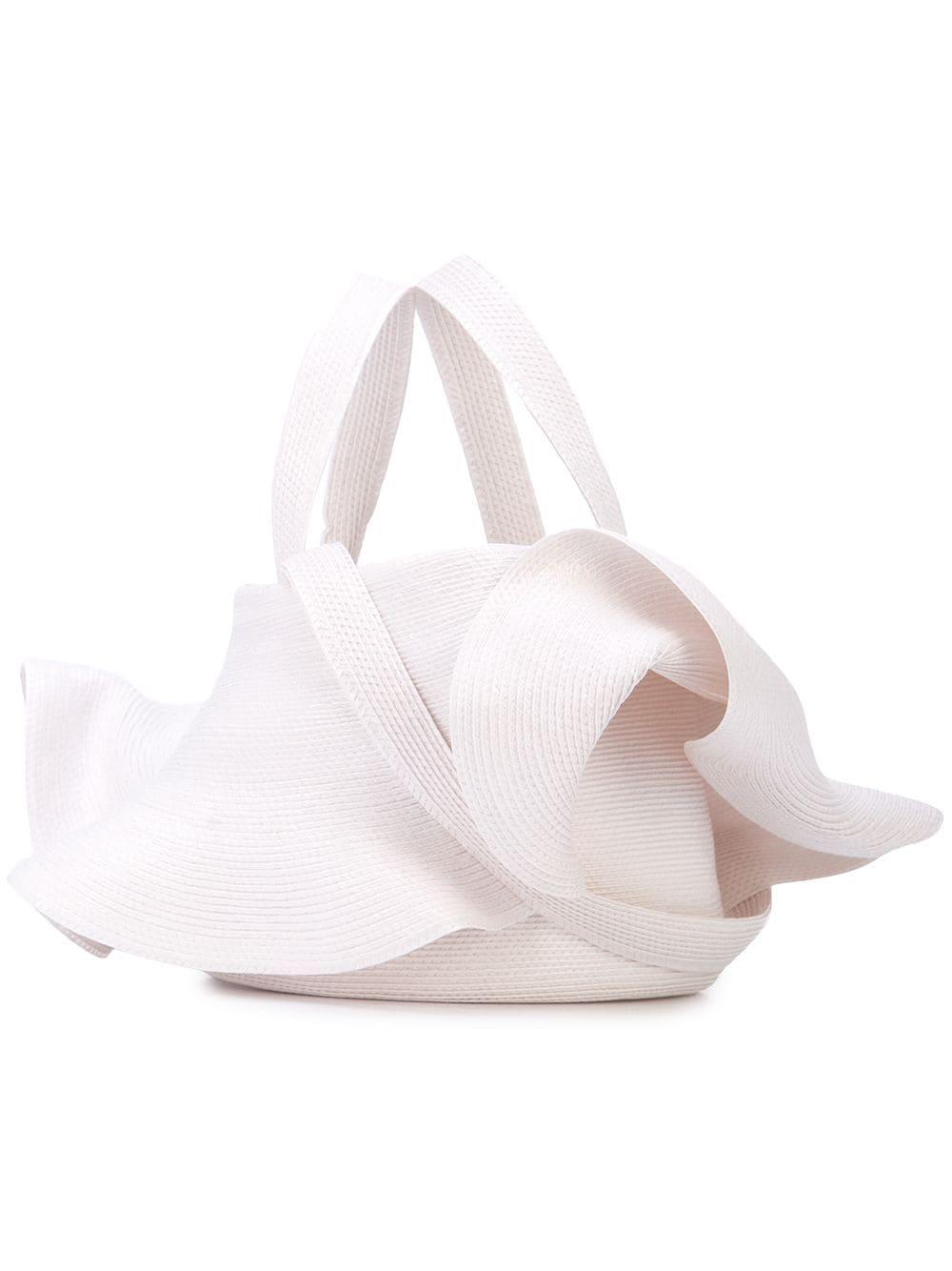 Rosie Assoulin Gewebte Handtasche - Weiß