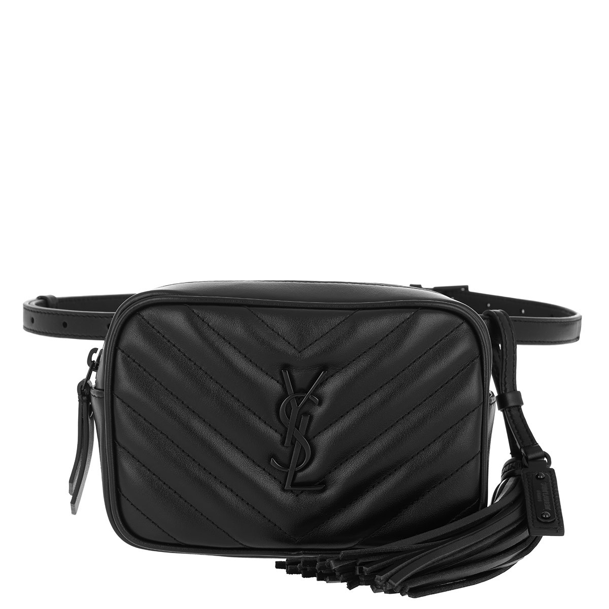 Saint Laurent Gürteltasche - Lou Belt Bag Quilted Leather Black - in schwarz - für Damen